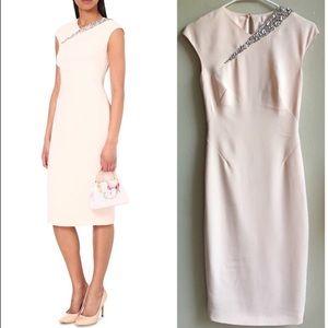 Ted Baker Floray Midi Dress. Light pink